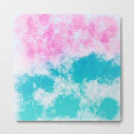 Pink and blue watercolor effect Metal Print
