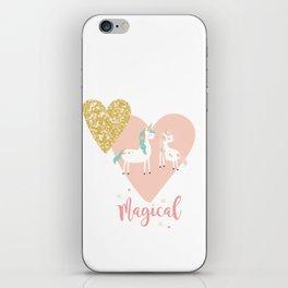 Magical Unicorn Valentine Couple iPhone Skin