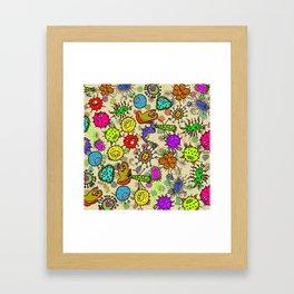 Doodle Germs Framed Art Print