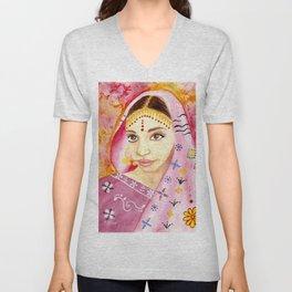 India Bride - Ethnic Art Unisex V-Neck