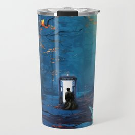 Tardis Lost In The Forest Travel Mug