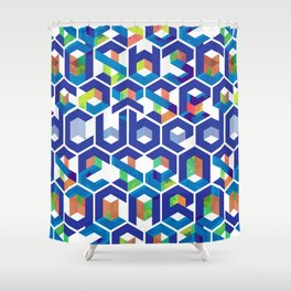 Cubed Balance Shower Curtain