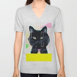 Mr. Cat Unisex V-Neck