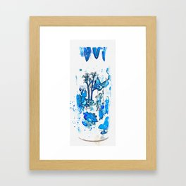 A BLUE AND WHITE 'FIGURAL' VASE QING DYNASTY, KANGXI PERIOD watercolor by Ahmet Asar Framed Art Print