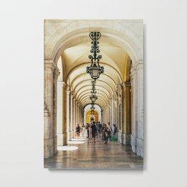 Rua Augusta Arch, Triumphal Arch In Lisbon Portugal, Wall Art Print, Modern Architecture Art, Poster Metal Print
