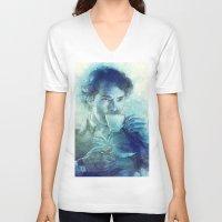 tea V-neck T-shirts featuring Tea by Anna Dittmann