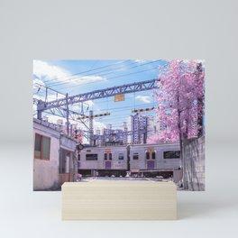 Seoul Anime Train Tracks Mini Art Print