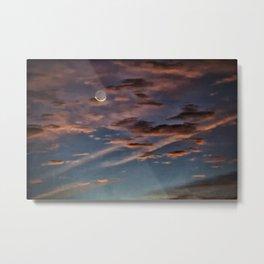 Crescent Moon At Sunrise Metal Print