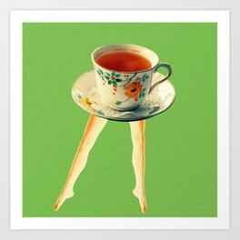 Teacup Lady Art Print