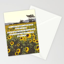 Jeremiah Sunflowers Stationery Cards