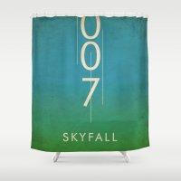 skyfall Shower Curtains featuring skyfall by alex lodermeier