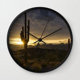 Desert Dawn on the Horizon Wall Clock