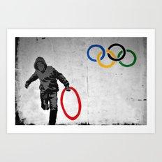 Banksy Olympic Rings Art Print