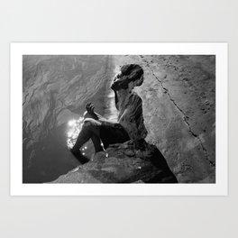 Mississippi Mud - Self Portrait Art Print