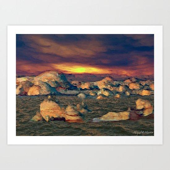 Strange Light of Sunset Art Print