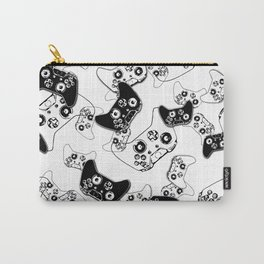 Video Game Black on White Carry-All Pouch