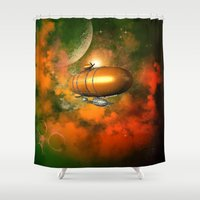led zeppelin Shower Curtains featuring Zeppelin  by nicky2342