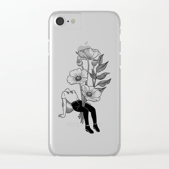 Let me bloom Clear iPhone Case