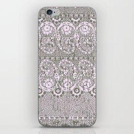 sun floral paisley monochrome iPhone Skin