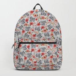 Pretty Sweary: Fuckity Fuck Fuck- Grey Backpack
