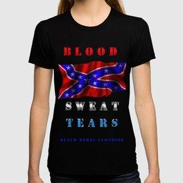 Rebel Flag Blood Sweat Tears T-shirt