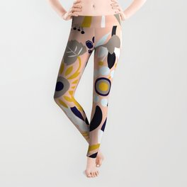 Bunch of Flowers and Leaves Leggings