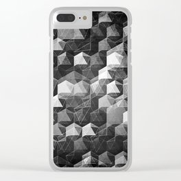 as the curtain falls (monochrome series) Clear iPhone Case