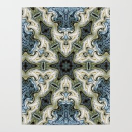 east painted pattern Poster