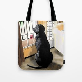 Ajax Watches the World Go By Tote Bag
