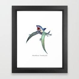 Sharkdactyl Nomdactylus Framed Art Print