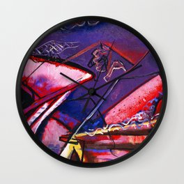 African American Masterpiece 'Jazz Club' by Norman Lewis Wall Clock