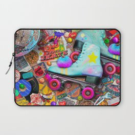 Super Retro Roller Skate Night Laptop Sleeve
