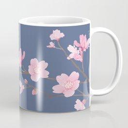 Cherry Blossom - Denim Blue Coffee Mug