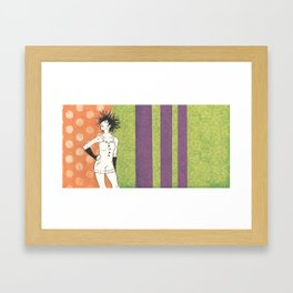 A Sea of Hair: Urchin Framed Art Print