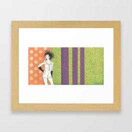 A Sea of Hair: Urchin Framed Art Print