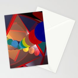 in a mirror -1- Stationery Cards