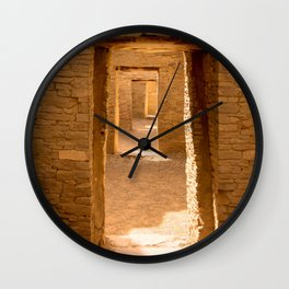 Chaco Ancient Doors Wall Clock