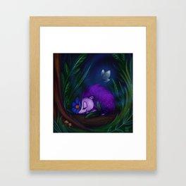 Purple Hedgehog Framed Art Print