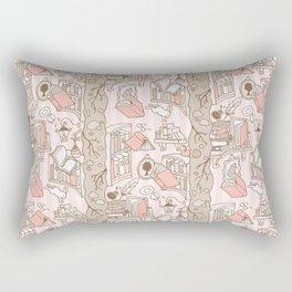 Books: Through the rabbit hole_Pink Cake Rectangular Pillow