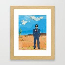 Desert Ted Framed Art Print
