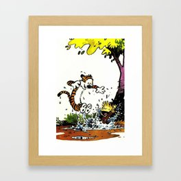 calvin hobbes Framed Art Print