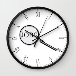 Jobs Magnifying Glass Wall Clock