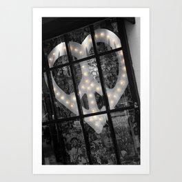 Peace & Love NYC Art Print
