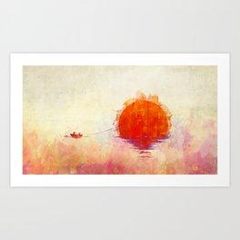 The Fisherman and His Boy Art Print