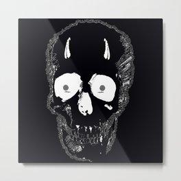 Devil Skull Metal Print