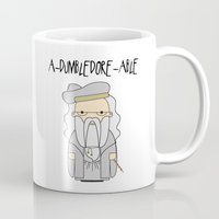dumbledore Mugs featuring A-DUMBLEDORE-ABLE.  by BeckiBoos