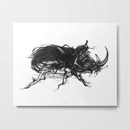 Beetle 1. Black on white background Metal Print