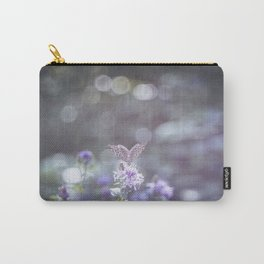 Sun rays and bokeh effect over the butterfly Carry-All Pouch