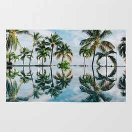 Palm Tree Reflections Rug