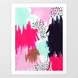 Spring Dotty Paint Art Print